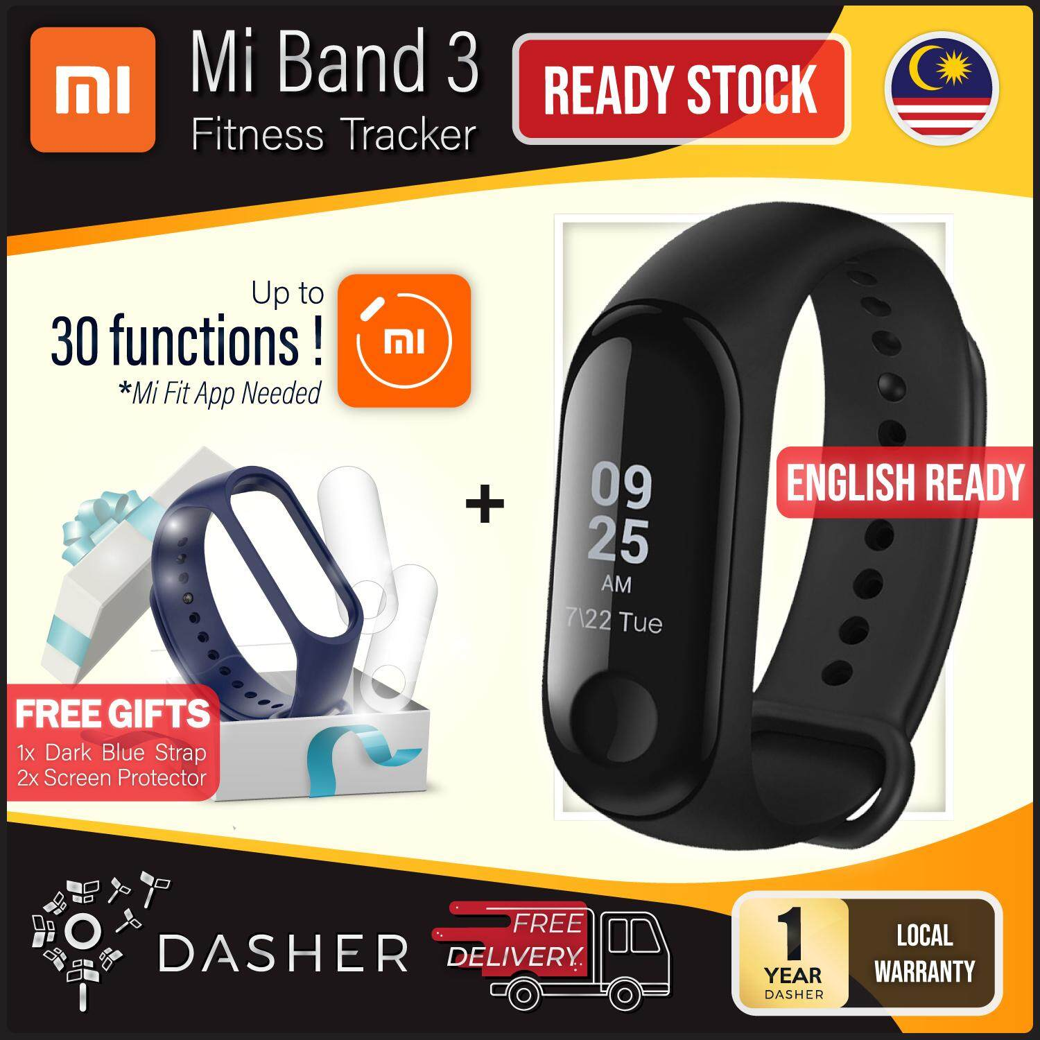 【free Gifts!】 Xiaomi Mi Band 3 Touch Screen Oled Smart Wristband 0.78 Waterproof (black) - Xiao Mi Miband 3 Smartwatch Heart Rate Tracker Smart Wear By Dmd Online.