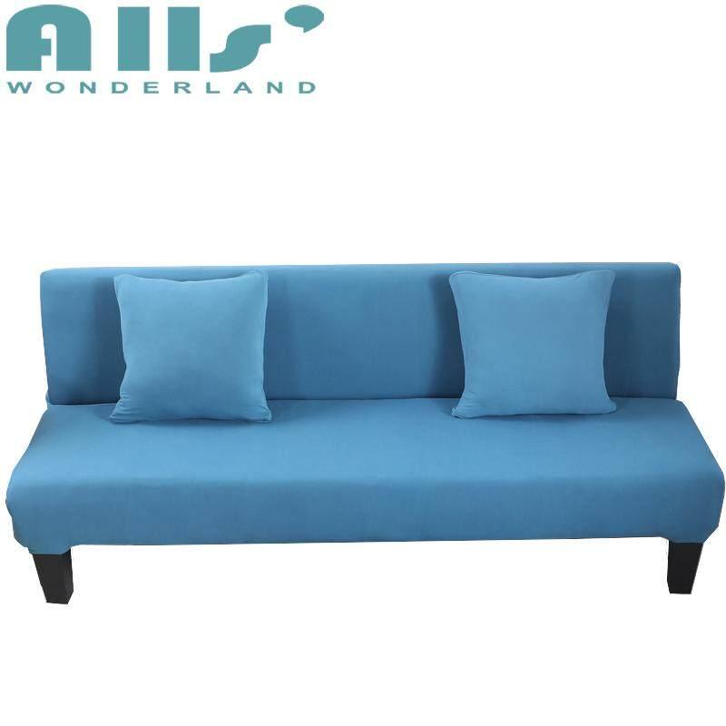 【Sofa Selimut Tebal 】3-Seater Warna Murni Sarung Regang Ada Sandaran Tangan Elastis Sofa Lipat Selimut Tebal (Rentang Panjang untuk 160-190 CM/64.9-76.7 '')