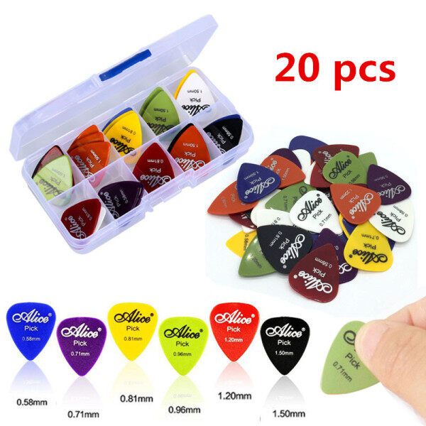 20Pcs/Set Electric Guitar Pick Acoustic Music Picks Plectrum 0.58/0.71/0.81/0.96/1.20/1.50mm Thickness Guitar Accessories GYH Malaysia