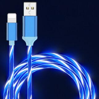 Sạc Điện Thoại Di Động Cable USB Loại C Dòng Sáng Dữ Liệu Dây Cho Samsung Huawei LED Micro Kable Apple Dòng Sạc Nhanh 7