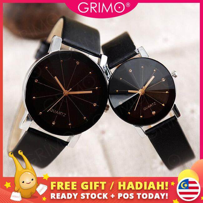 GRIMO Malaysia - Quartz Couple Watch Fashion Couple Stainless Steel Leather Analog Sport Wrist Jam Tangan Wanita Women Men Ladies Girls Men Unisex New August 2019 Malaysia
