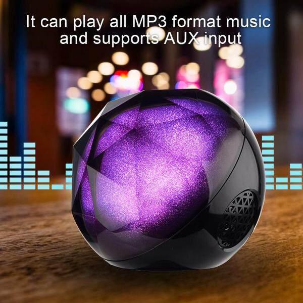 Hanmugy Di Động ABS Chất Lượng Cao Pha Lê Bi Ma Thuật Loa Bluetooth Đèn Nhiều Màu Sắc SoundBox giá rẻ