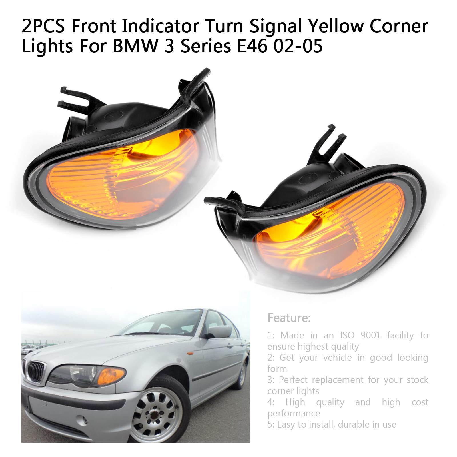 For BMW 3 Series E46 Yellow 4-LED Xenon Bright Side Light Beam Bulbs Pair