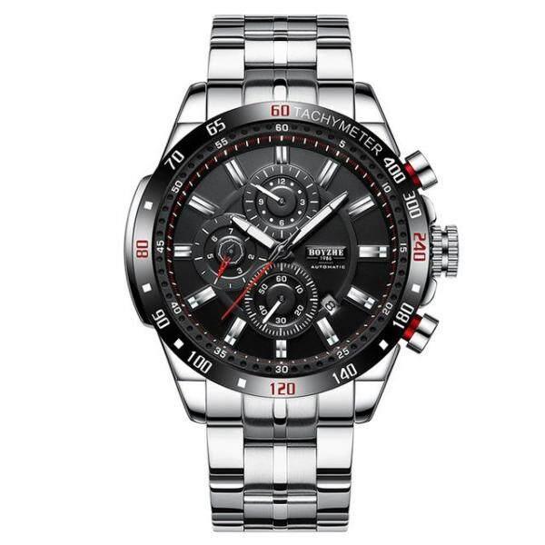 2019New BOYZHE Men Automatic Mechanical Fashion Top Brand Sport Watch Man Luminous Military Stainless Steel Watches Malaysia