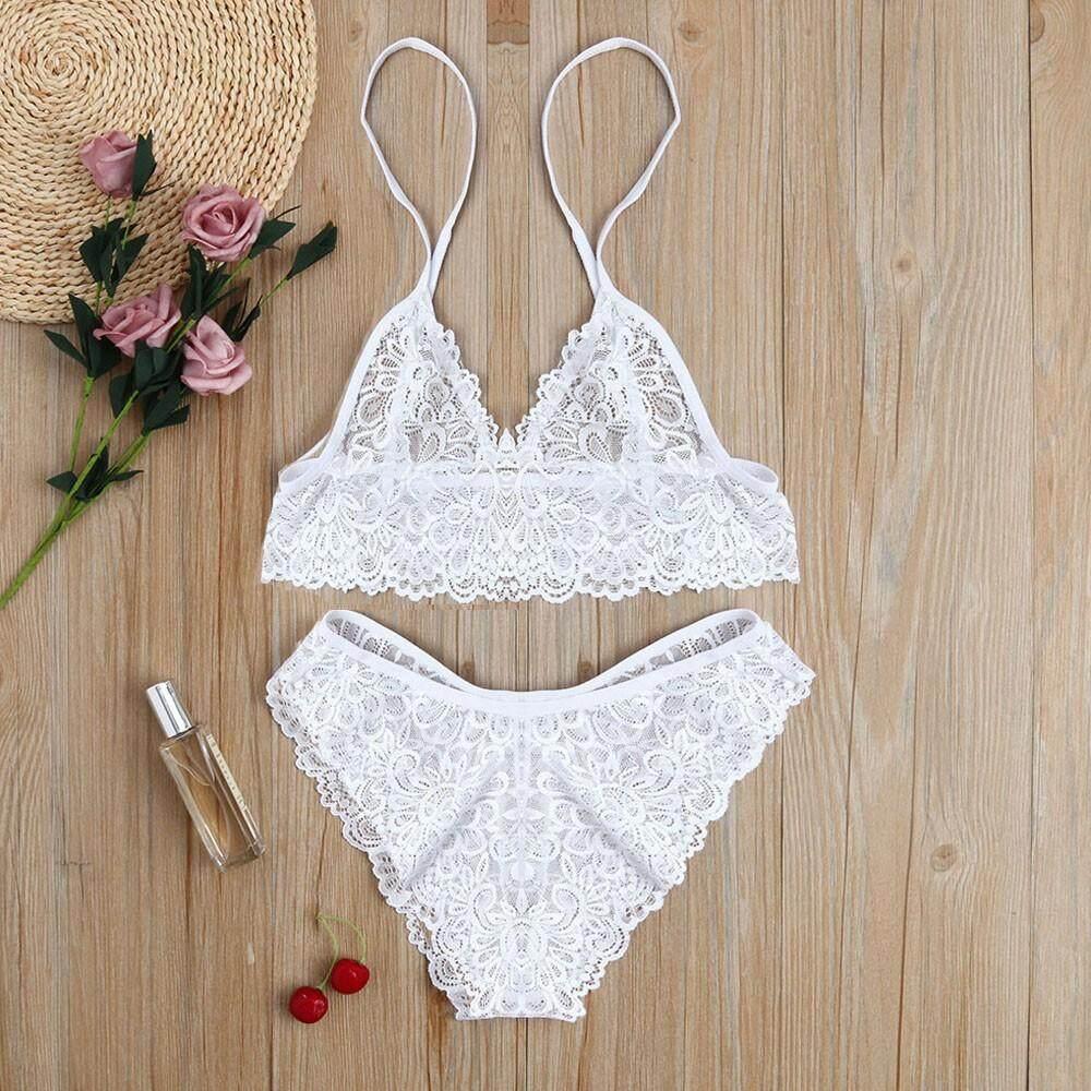55cbf710427 Kohlershop Women Girl Tempting Sexy Lace Bra Lingerie Bodice Underwear  Bodysuit Sleepwear Free shipping