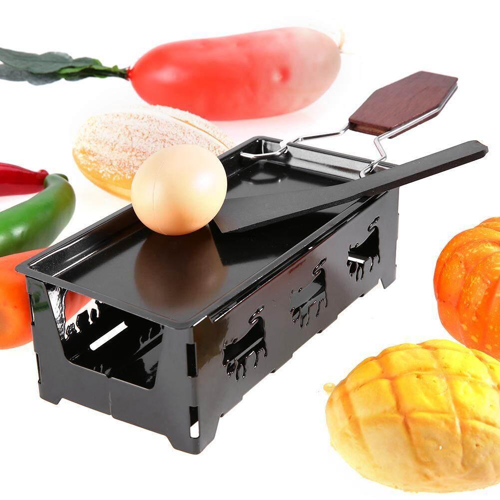WFS Di Động Không Dính Phô Mai Raclette Rotaster Khay Nướng Bếp Wodd Tay Cầm Nướng Dụng Cụ