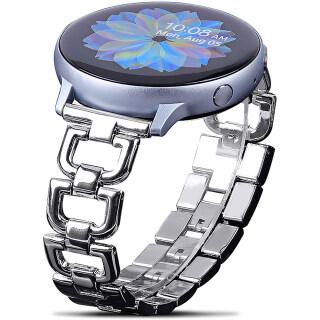 Tương Thích Với Samsung Galaxy Hoạt Động 2 Ban Nhạc, 40Mm 44Mm Active2 Galaxy Watch3 (41Mm) Đồng Hồ Galaxy (42Mm) Dải 40Mm Hoạt Động Vòng Đeo Tay Hình Chữ D Sang Trọng Thay Thế Dây Đeo Kim Loại Đánh Bóng thumbnail