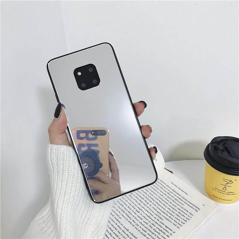 Shock-Proof Casing Ponsel untuk OPPO R9 R11 SP F3P R15 Pro R17 Mewah Membuat Cermin Gadis Kaca Ponsel Penutup Belakang