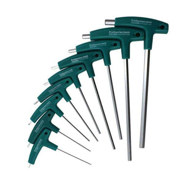 Top Deals T-Handle Hex Allen Key Screws Screwdriver Driver Tool Flat Head Wrenches Set