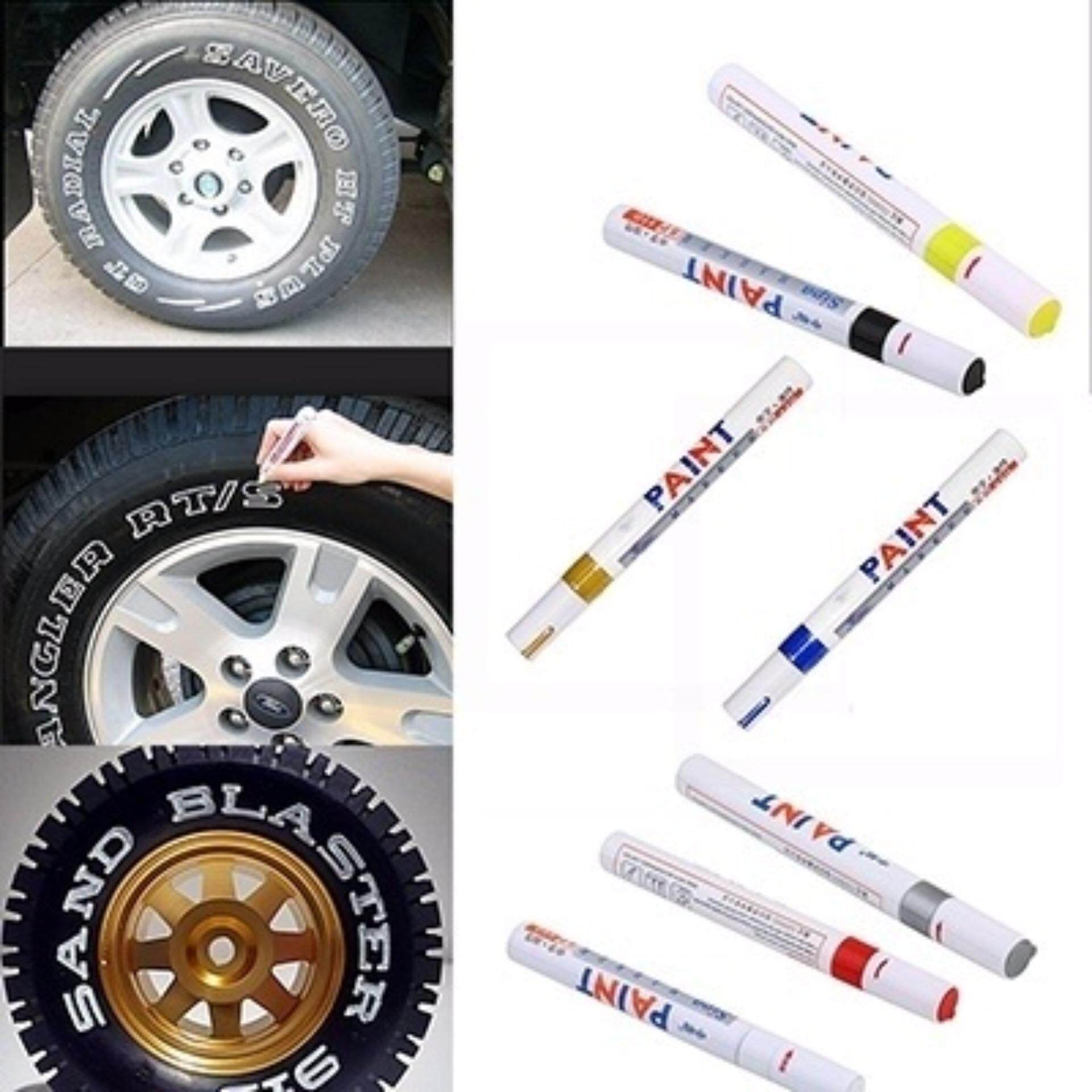 Car Motorcycle Motor Cycle Tyre Tire Tread Marker Paint Pen Yellow Variety grace