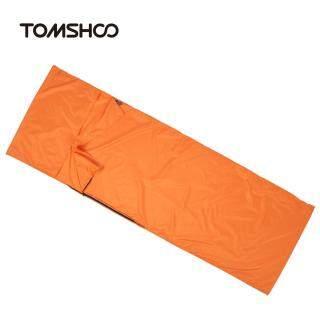 TOMSHOO Túi Ngủ Khỏe Mạnh Bằng Polyester Pongee Cắm Trại Đi Bộ Đường Dài Du Lịch Ngoài Trời 70 210CM Lớp Lót Với Vỏ Gối, KHÁCH SẠN Du Lịch Công Tác Nhẹ Di Động thumbnail