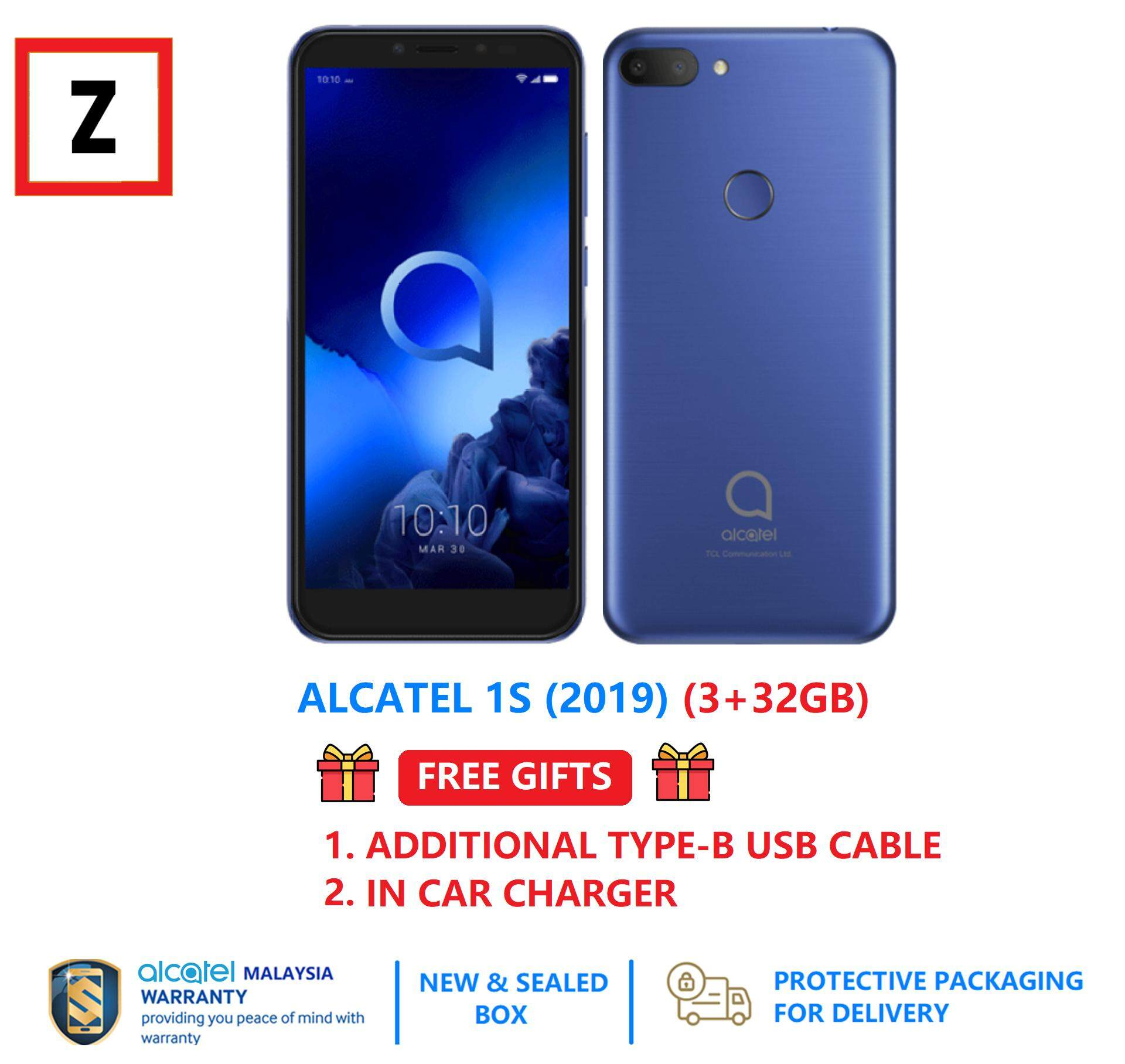 [Free Gifts] Alcatel 1S (2019) [3GB ROM + 32GB Storage] 1 Year Alcatel  Malaysia Warranty