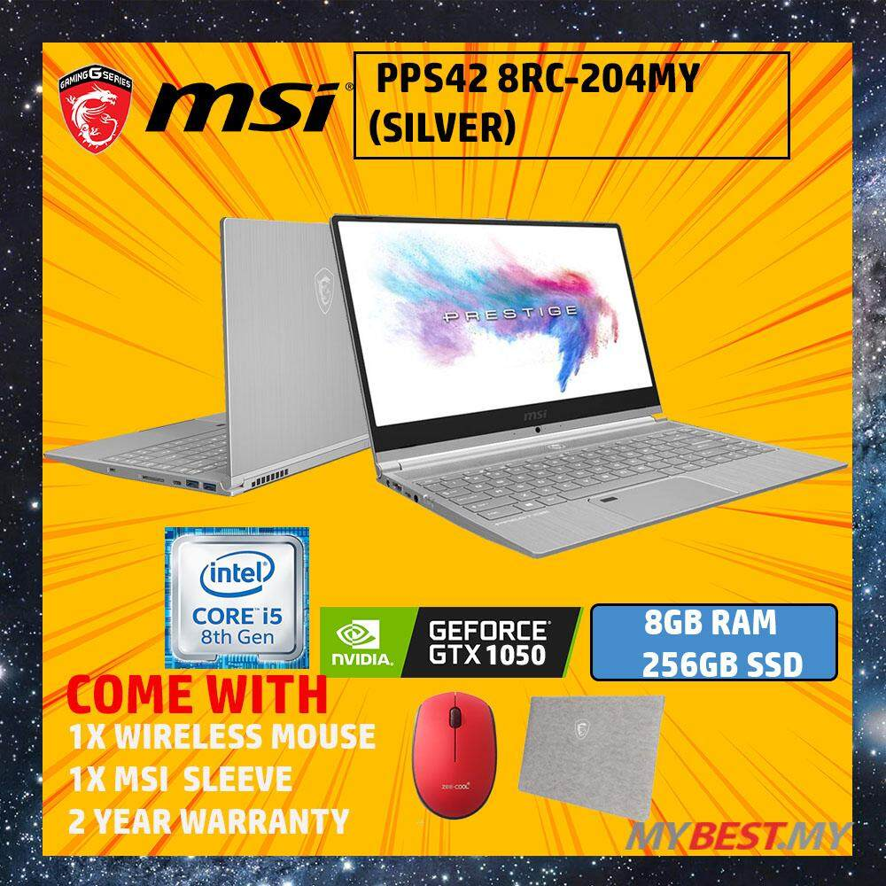 MSI PS42 Modern 8RC-204MY 14  Laptop (i5-8250U, 8GB, 256GB, NV GTX1050, W10H) Malaysia