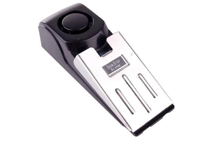 Portable Door Stop Alarm Wireless Home Travel Security Safety Wedge Alert