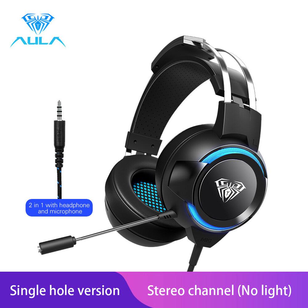 Aula G91 Gaming Headset หูฟังคอมพิวเตอร์ Gamer Deep Bass สำหรับแล็ปท็อปพีซีคอมพิวเตอร์.