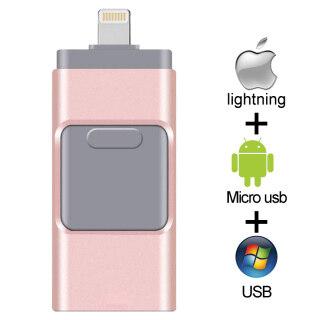Hàng Có Sẵn + Miễn Phí + COD USB OTG Ổ Đĩa Flash Cho iPhone 64Gb 128Gb Ổ Usb Nhỏ 32GB 256GB Thẻ Nhớ USB 16GB Ổ Nhớ Flash Ổ Đĩa Flash Cho iPhone 6 7 8S X XR XS thumbnail