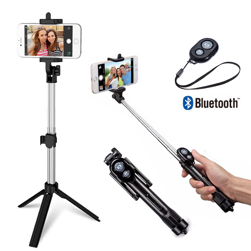 Flexible Selfie stick Monopod Tripod for iPhone IOS Samsung Xiaomi Huawei Android OS Phone Tripod Stand For Gopro Camera Holder