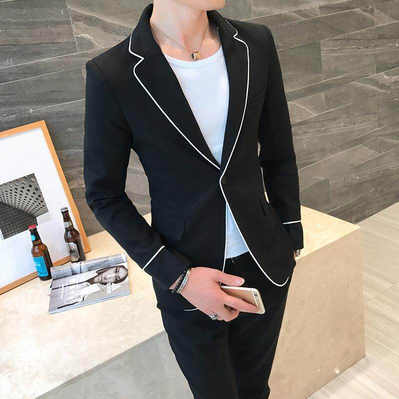 (jacket + Pants) New Fashion Mens Business Tuxedos Casual Youth Trends New Wedding Suits By Yangs House.