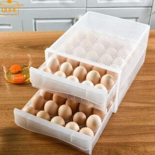 QUHE Được Làm Bằng Hộp Đựng Trứng Gia Dụng Ngăn Kéo- Hộp Đựng Tủ Lạnh Loại Hộp Đựng Bánh Bao Trong Suốt Bằng Nhựa Khay Trứng Hai Lớp thumbnail