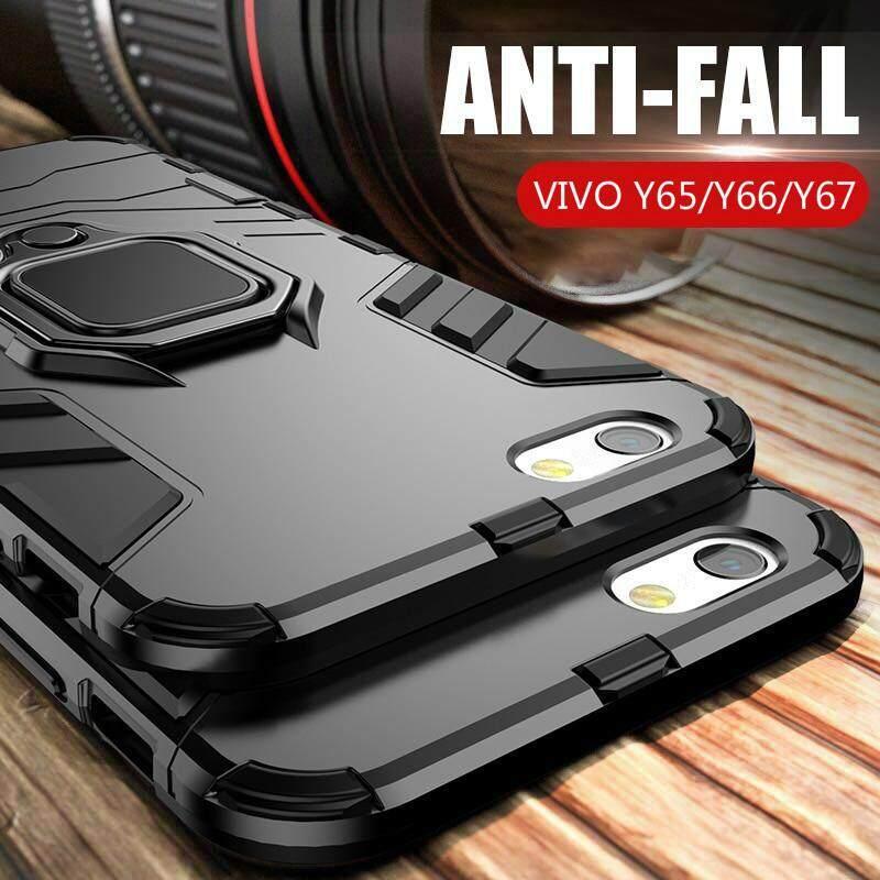 Rp 59.900. Pelindung Tahan Benturan Stand Pelindung untuk Vivo Y65 Y66 Y67 dengan Pemegang Cincin Penutup Case ...