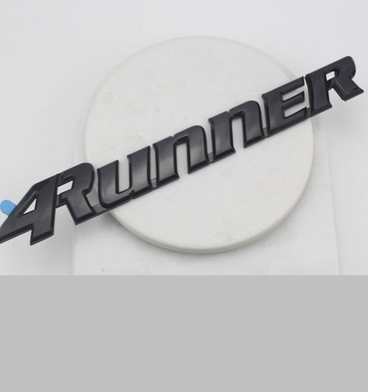 25 Cm Đen Chữ Quốc Huy Miếng Dán Kính Cường Lực Cho 4Runner Logo TOYOTA ABS Mạ Từ Tiếng Anh Ký Thân Xe Nhãn Sửa Đổi phía Sau Thân Cây Mark