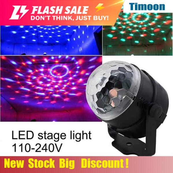 Đèn LED Mini RGB 220V Pha Lê Bóng Ma Thuật Hiệu Ứng Sân Khấu Bóng Đèn Tiệc Tùng Vũ Trường Câu Lạc Bộ DJ Ánh Sáng Laser Show Lumiere Beam SL01