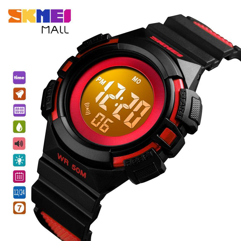 SKMEI 1485 Student Colorful LED Flash Light Girl Fashion Watch Digital Kids Child Sport Stopwatch Alarm 50m Waterproof Malaysia