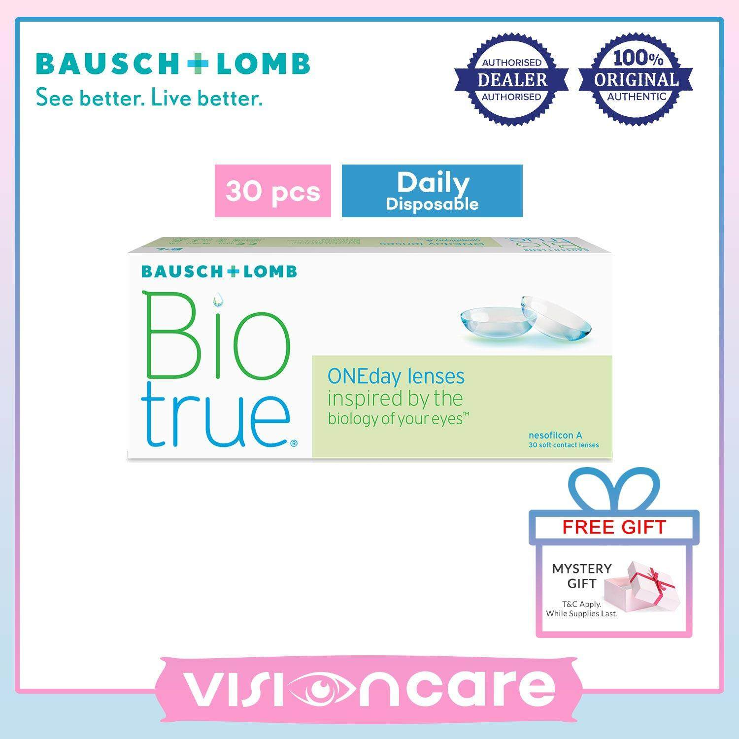 Bausch & Lomb Biotrue ONEday Disposable Contact Lenses