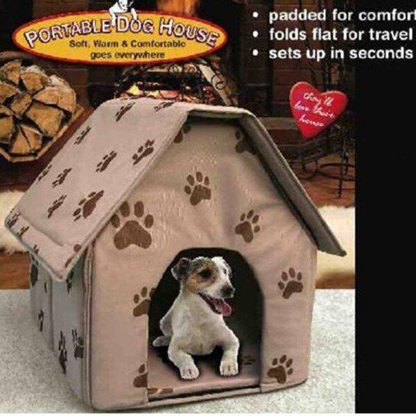 Nhà Cho Chó Nhỏ Xách Tay Có Thể Tháo Rời Có Thể Gập Lại Dog Mèo Dấu Chân Vật Nuôi Ngủ Nhà, Ngủ