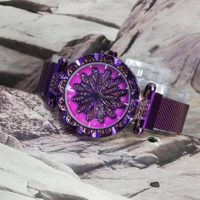 Meriots Perempuan Magnetic Analog Tali Besi Engin Hitam New Arrival Stylish Good Quality Watch Magnet Strap Dimond Look Awesome Color Edition With New Fashion Design Malaysia