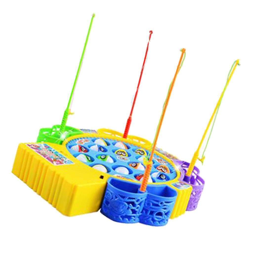 BolehDeals Kids Fishing Game Magnetic Fishing Toy with Music Kids Early Development