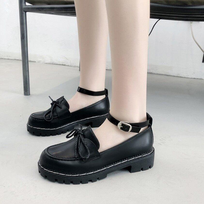 Giày Nữ Mềm Lolita Lolita Lolita Đế Thấp Jk Đồng Phục Giày Da Nhỏ Đầu Tròn Lo Girl Lolita giá rẻ