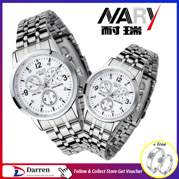 [Buy 1 Take 1]Darren1 2021 New 1 Pair Nary Fashion Casual Couples Lover Watch Waterproof Luminous Stainless Steel Luxury Wristwatch Original Quartz Watches For Men And Women Malaysia
