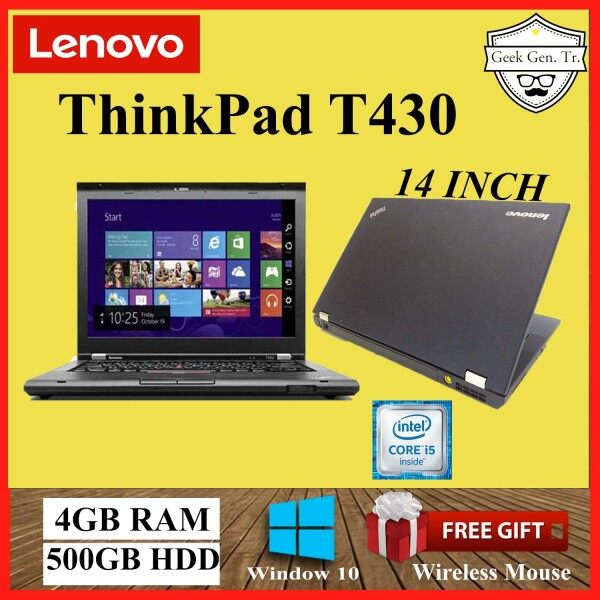 Lenovo ThinkPad T430 Intel Core i5-3360M 4GB RAM 500GB HDD 14 INCH Malaysia