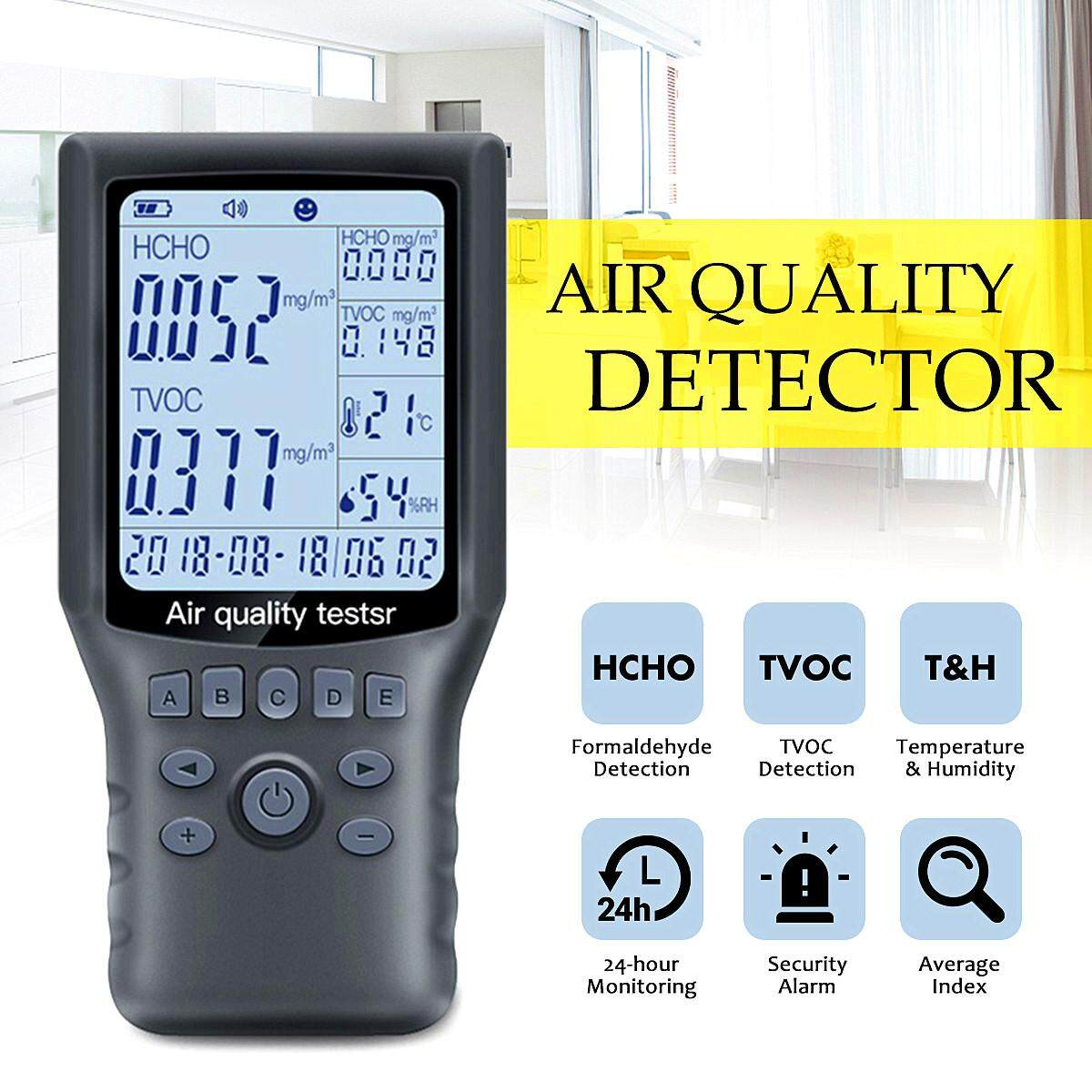 Portable Air Quality Detector Hcho Tvoc Tester Ubs Humidity Detector Car Office By Autoleader.