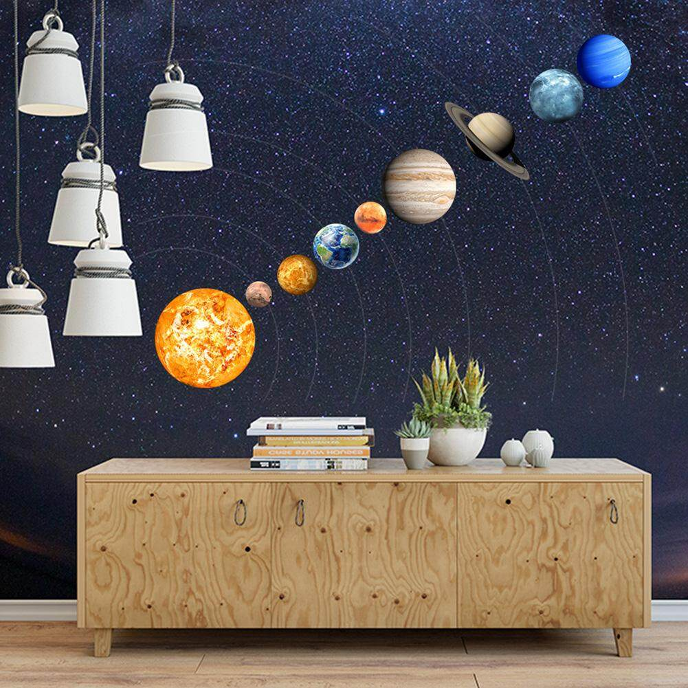 PER 9-Planet Solar System Pattern Luminous Wall Sticker Home Wall Decoration For Kids Bedroom Living Roomwall stickers, for bedroom,for living room, for kids,Luminous,Solar system,wall decoration