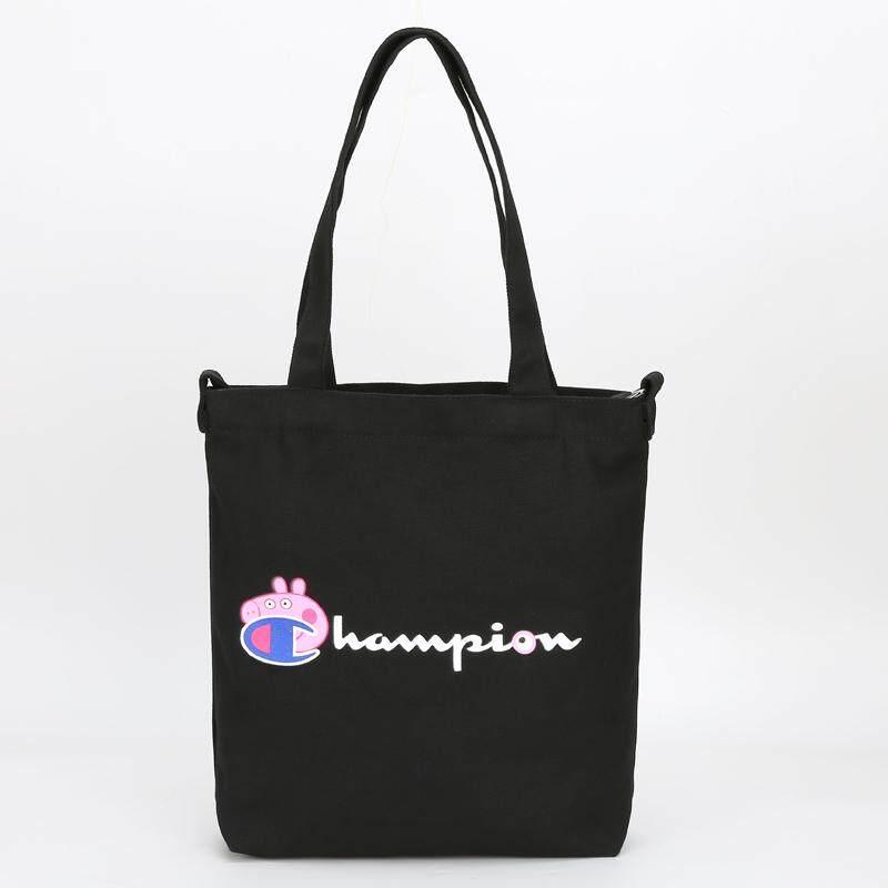 champion_womens Shopping packet shoulder bag canvas High capacity Tote Bags