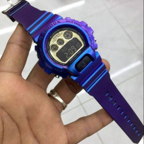 G_Shock_Purple DW6900 (Cermin Kaca) Watch For Men Ready Stock Malaysia