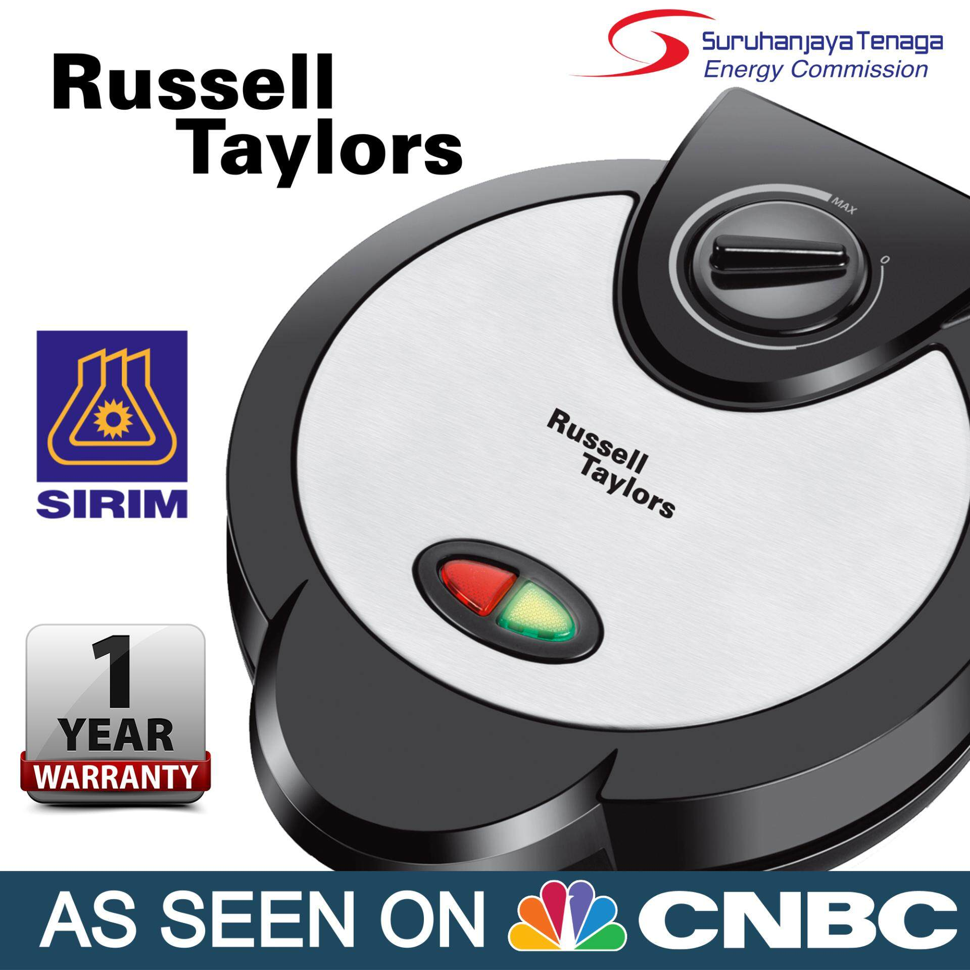 Russell Taylors Belgian Waffle Maker With Temperature Control (stainless Steel) Wm-25 By Russell Taylors.