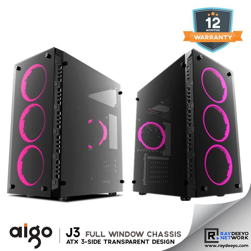 Aigo J13 Chassis [Front - Tempered Glass, Left/Right Side - Acrylic, ATX, Matx, Mini-ITX] Malaysia