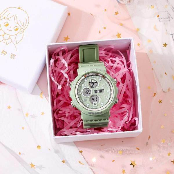 Sportwatch for Women Girl Student Calendar Luminous 24-hour Indication Daily Waterproof Digital Watch with Free Box Malaysia