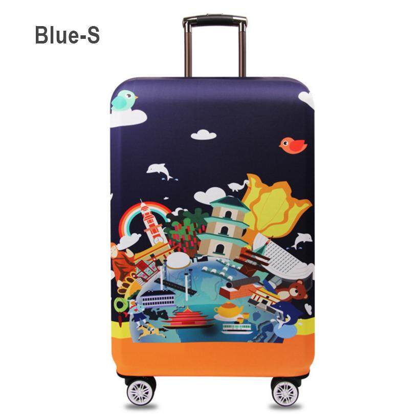 16b3b1a59297 Fabric Stretchable Elastic Travel Luggage Suitcase Protective Cover(S~XL  size)