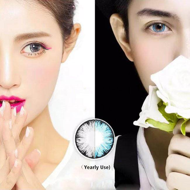 1 Pair MAXIY Colour Contact Lens Beauty Cosmetic contacts Yearly Use
