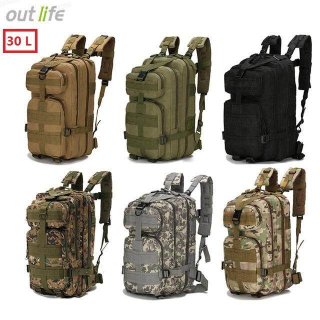 ( 30l & Waterproof )outlife Brand 3p Military Backpack Sports Bag For Camping Traveling Hiking Trekking Outdoor Military Rucksacks Nylon Tactical Backpack Sports Fishing Hunting Bags By Dobest.