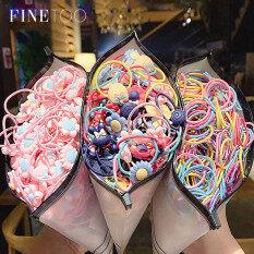 Bộ 30 thun cột tóc nhiều màu sắc kẹo ngọt thời trang hàn quốc FINE TOO