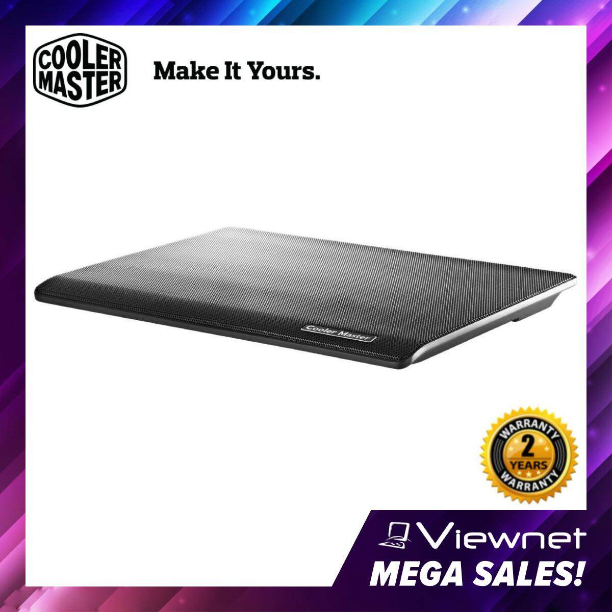 Cooler Master Notepal i100 Silent 140mm Fan Ultra Slim Ergonomic Mesh USB 2.0 Notebook Cooler for up to 15.4 Laptop (R9-NBC-I1HK-GP) Malaysia