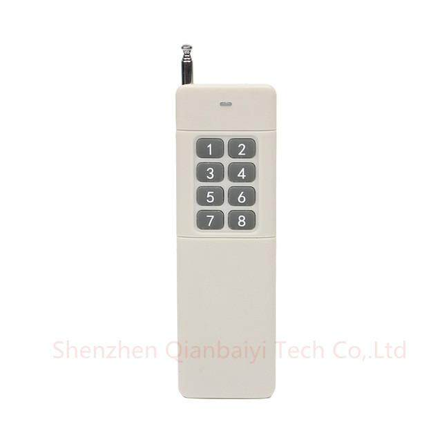 3000m Long Range High Power 8CH RF Remote Control Transmitter 433 MHz