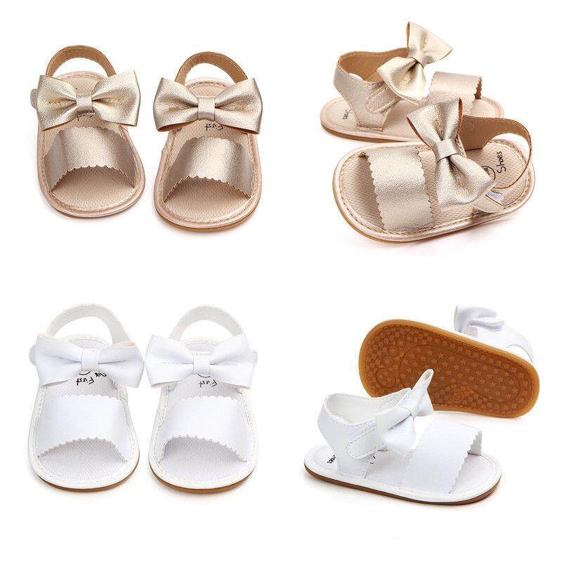 5032afde819 Newborn Infant Baby Girls Princess Bowknot Shoes Soft Sole PU Sandals Shoes