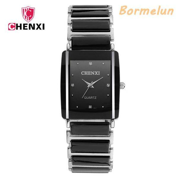 [100% Original]CHENXI 104A Fashion Formal Watch For Men Square Dial Ceramic Strap Sports Casual Waterproof Luxury Quartz Male Wristwatch Malaysia