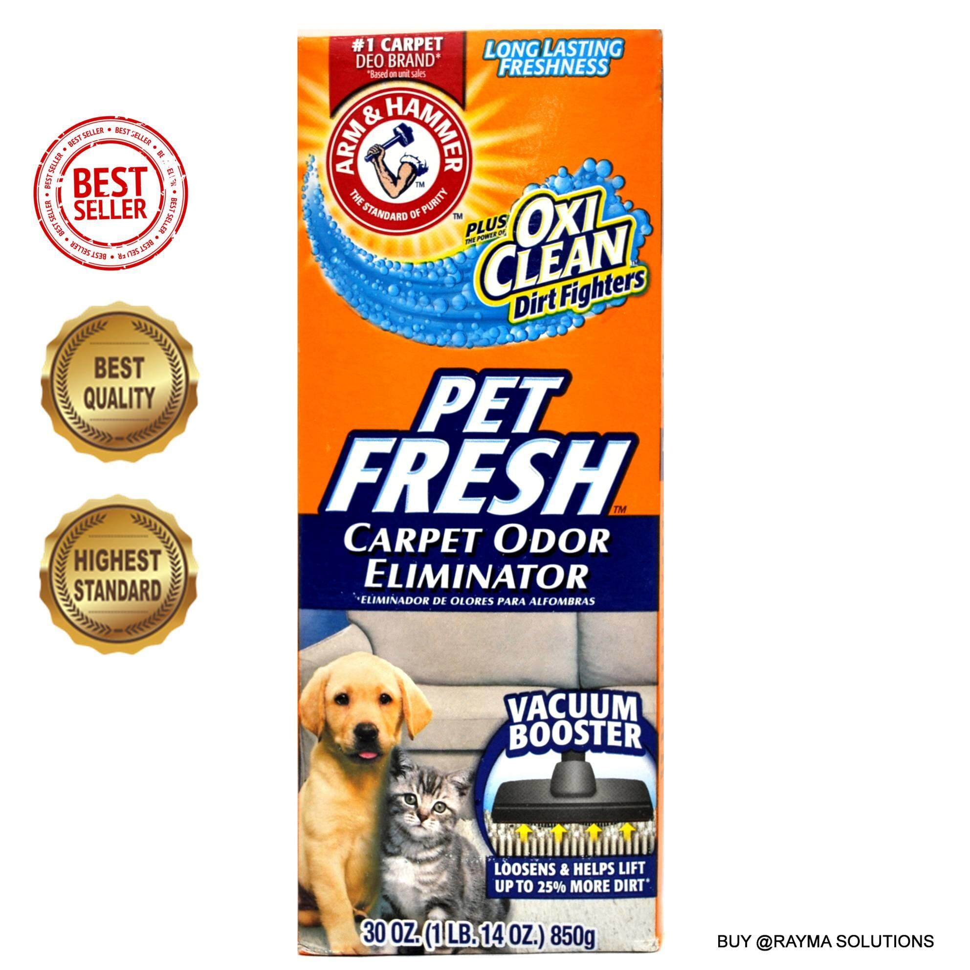 ARM & HAMMER Pet Fresh Carpet Odor Eliminator, Plus OxiClean Dirt Fighters, 850g